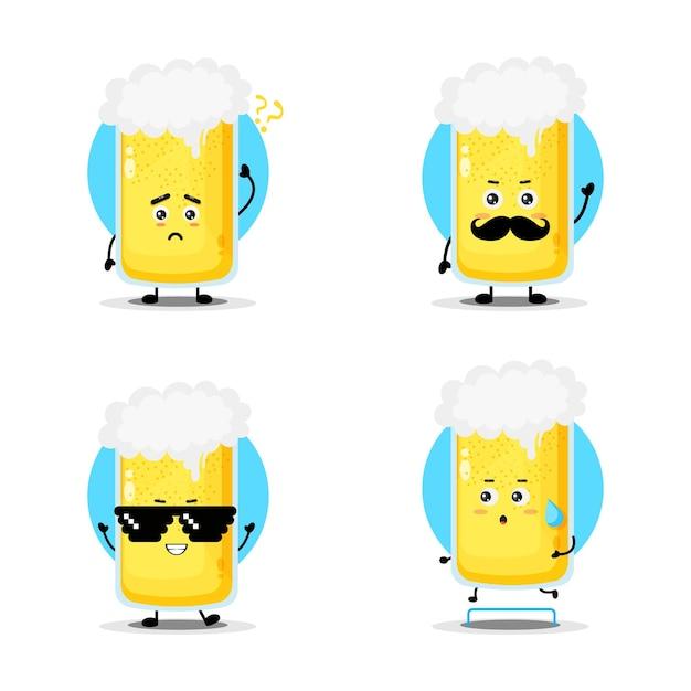 Collection de personnages mignons de bière