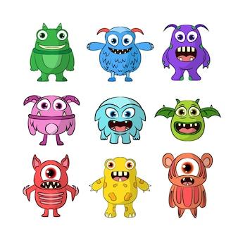 Collection de personnages de monstre