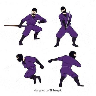 Collection de personnages de ninja