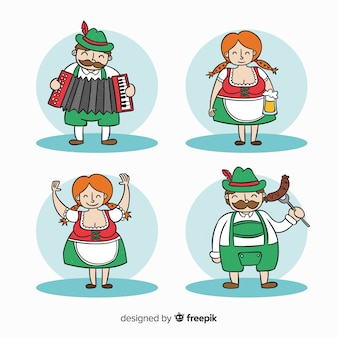 Collection de personnages oktoberfest