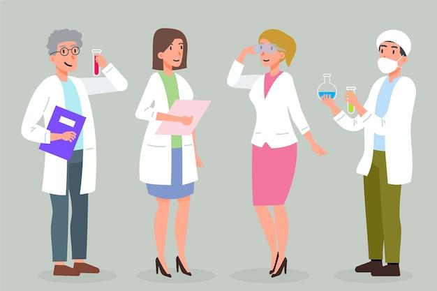 Collection de personnages de pharmacien