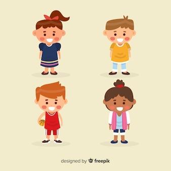 Collection de personnages pour enfants heureux