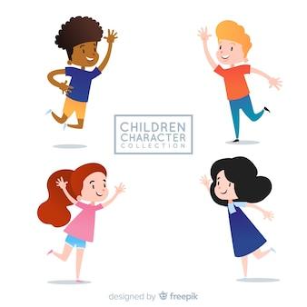 Collection de personnages pour la journée des enfants