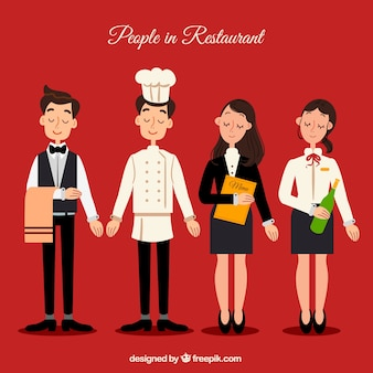Collection de personnages de restaurant