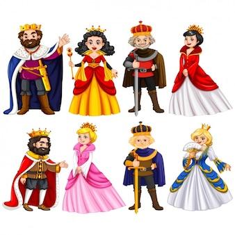 Collection de personnages royaux