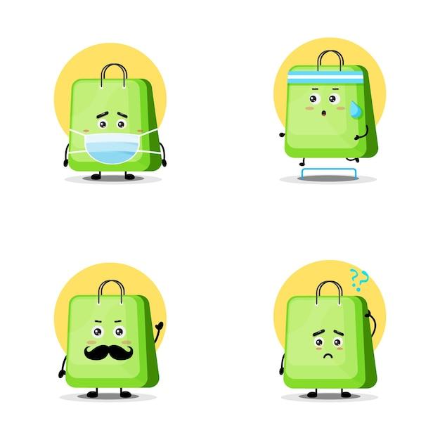 Collection de personnages de sac mignon