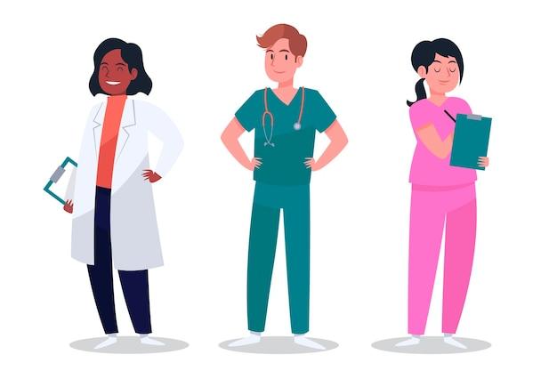 Collection de personnages de santé