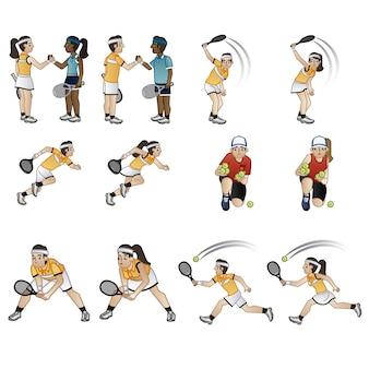 Collection de personnages de tennis