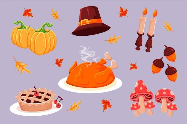 Collection de personnages de thanksgiving