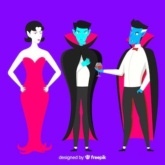 Collection de personnages de vampire dessinés à la main