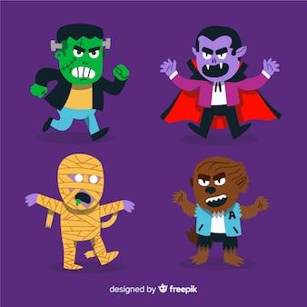 Collection de personnages de vampire d'halloween