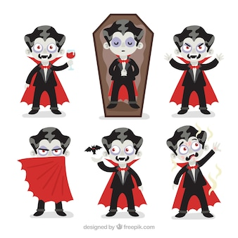 Collection de personnages de vampires de halloween