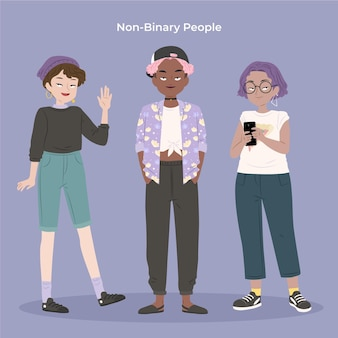 Collection de personnes non binaires