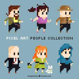 Collection de personnes pixelisés