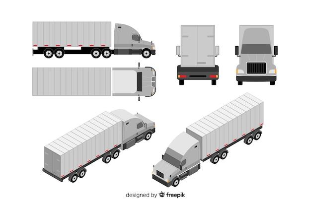 Collection de perspectives de camion isométrique