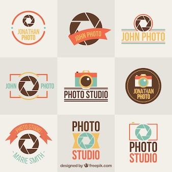 Collection de la photographie plat cru badges