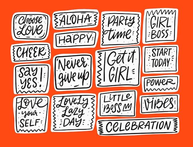 Collection de phrases de calligraphie