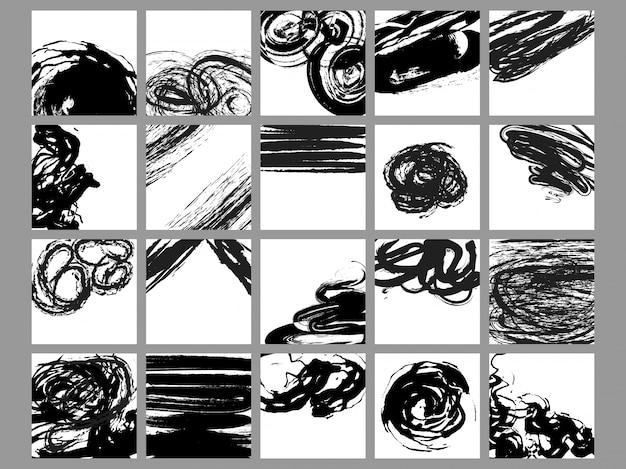 Collection de pinceaux abstraits multiples.