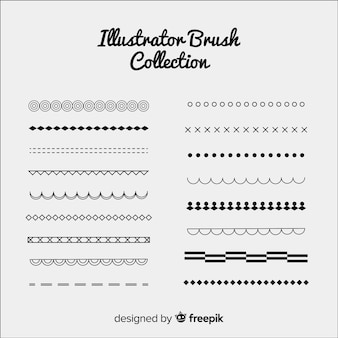 Collection de pinceaux illustrator
