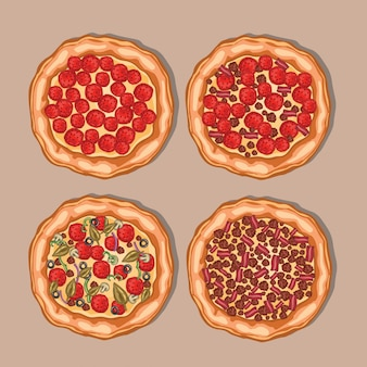 Collection pizza