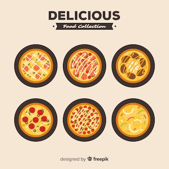 Collection de pizzas