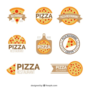 Collection de pizzeria logos
