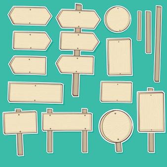 Collection de planche de bois