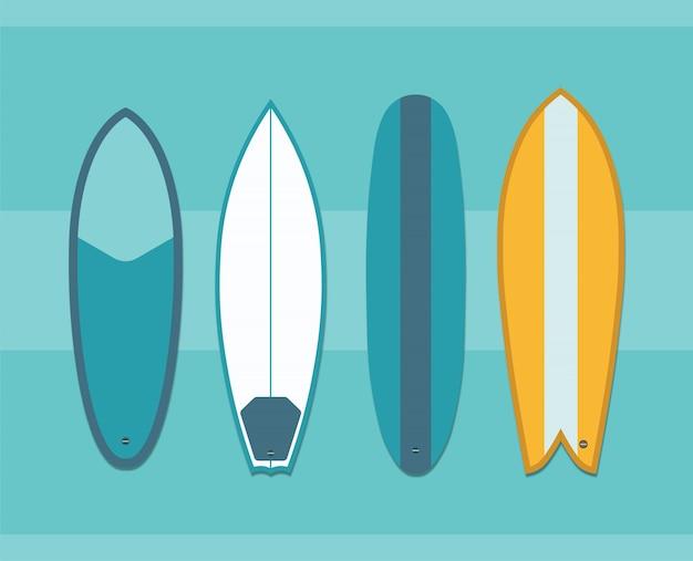 Collection de planches de surf