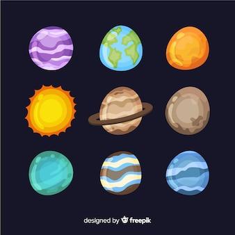 Collection de planètes de voie lactée