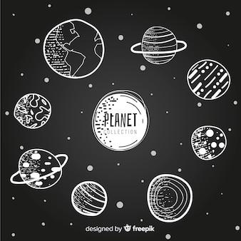 Collection de planètes de la voie lactée