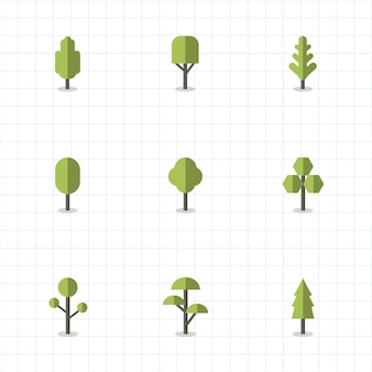 Collection de plantes et de vecteurs d'arbres