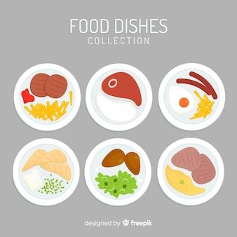 Collection de plat de nourriture