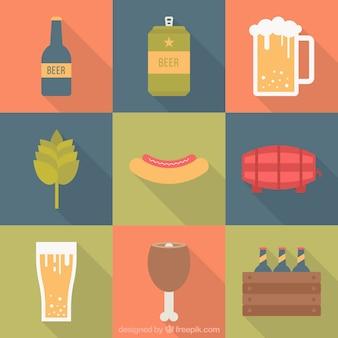 Collection plate d'éléments les plus oktoberfest
