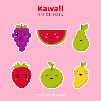 Collection de plats kawaii plats