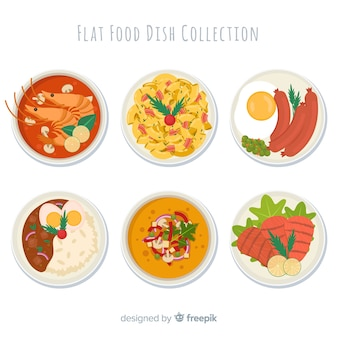 Collection de plats