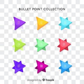 Collection de point de balle flèche plate