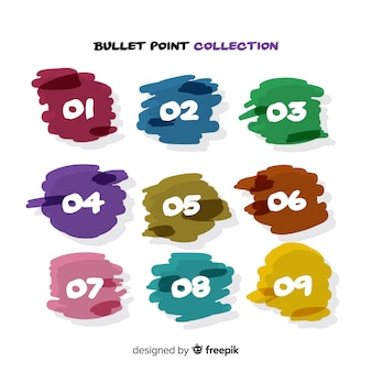 Collection de points de balle colorée abstraite
