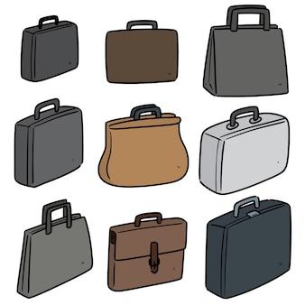 Collection de porte-documents isolé sur blanc