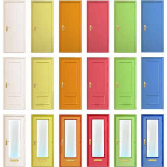 Collection de porte multicolore