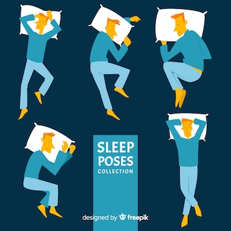 Collection de poses de sommeil plat