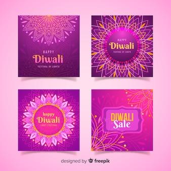 Collection de post de festival instagram diwali