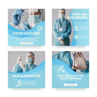 Collection de post instagram de vaccins dégradés