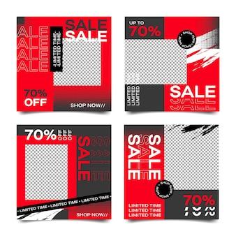 Collection de poste de vente coloré ig