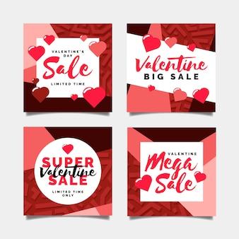 Collection de poste de vente de saint valentin