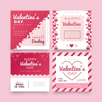 Collection de poste de vente de saint valentin