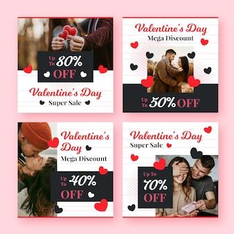Collection de poste de vente saint valentin