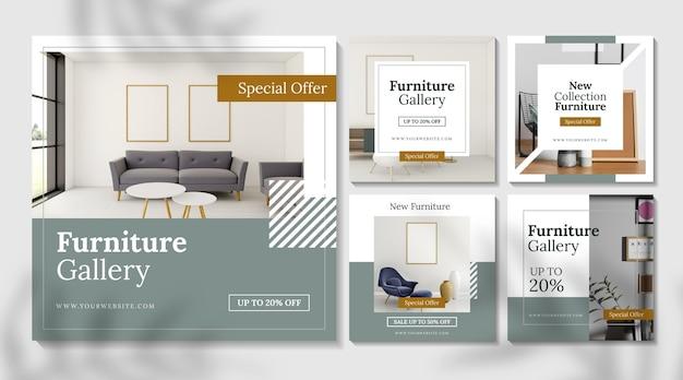 Collection de postes de vente de meubles