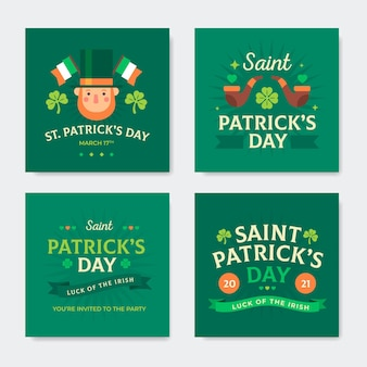 Collection de posts instagram de la saint-patrick