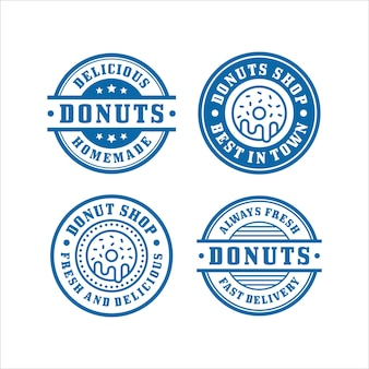 Collection premium de conception de timbres de donut