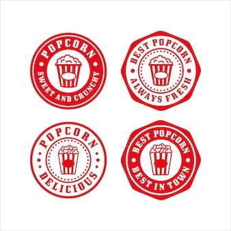 Collection premium de conception de timbres pop-corn